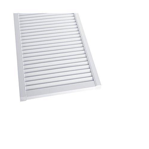 41jh8Lac+BL - Offene Lamellentür Schranktür Heizkörperverkleidung Kiefer weiß lackiert 1406 x 394 x 21 mm