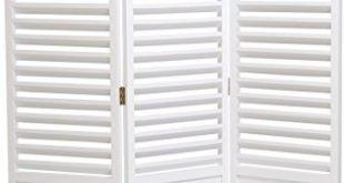 elbmöbel Paravent 160 x 121cm in weiß aus Holz