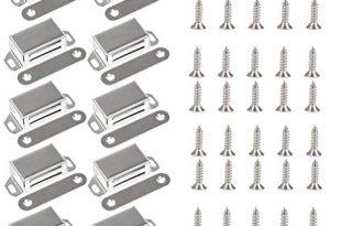 10 Stueck Magnetschnaepper YANSHON Magnetverschluss fuer Moebel Schranktuer Schrank Magnetschloss 310x205 - 10 Stück Magnetschnäpper, YANSHON Magnetverschluss für Möbel Schranktür, Schrank Magnetschloss, Möbel Magnet Türschließer/Haftmagnet Möbelbeschläge, Weiß Magnetverschluss